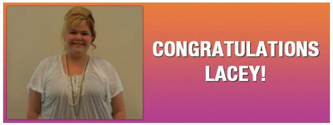 Congratulations Lacey